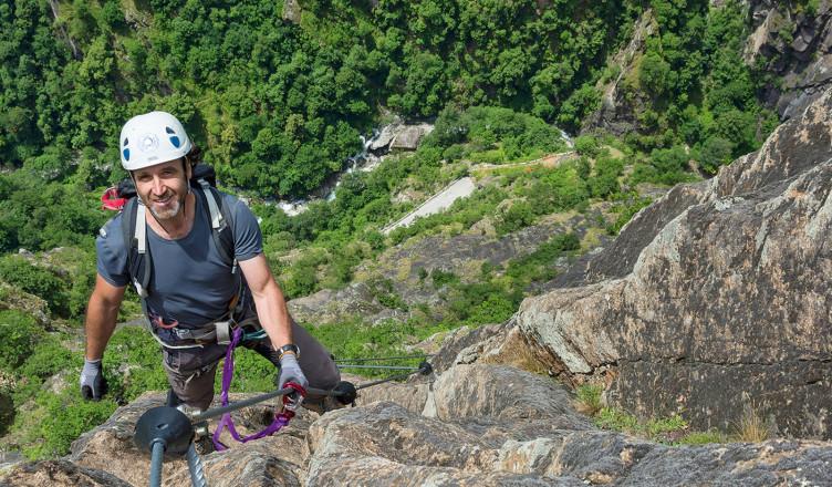 Klettersteig Urlaub : Klettersteig touren mit bergführer in den alpen